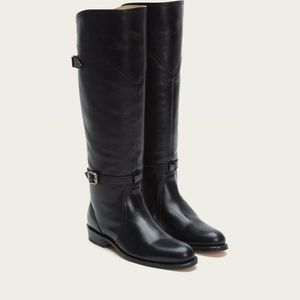 Frye Black Leather Knee High Riding Boots Size 6